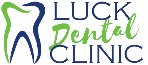 Luck Dental Clinic logo in blue and green