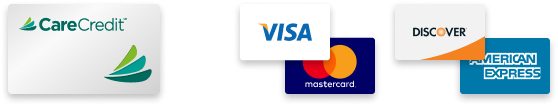 Payments accepted at Luck Dental Clinic, CareCredit, Visa, Mastercard, Discover, American Express